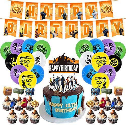 BAIBEI Videospiel Party Ballon, Spiel Partyzubehör Set Aluminiumfolie Ballon für Geburtstagsfeier und Game Party Dekoration