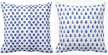 Yaya Cafe 24 x 24 inch Alluring Charming Indigo Printed Cushion Covers Set of 2 for Home Sofa