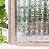 Película de Vinilo de protección de privacidad, Adhesivo de Vidrio con patrón de Mosaico, Adecuado para baño Familiar, balcón, Oficina, Tienda X 45x100cm
