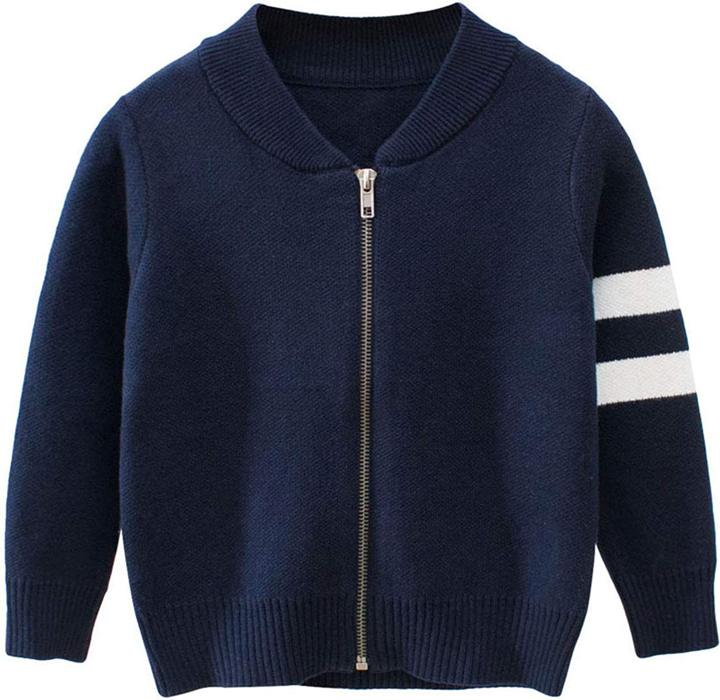 AMEBELLE Toddler Boy's Girl's Unisex Kint Sweater Zipper Bomber Jacket Cardigan
