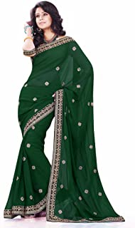 Mirchi Fashion Women's Faux Georgette Wedding Party Wear Festive Saree