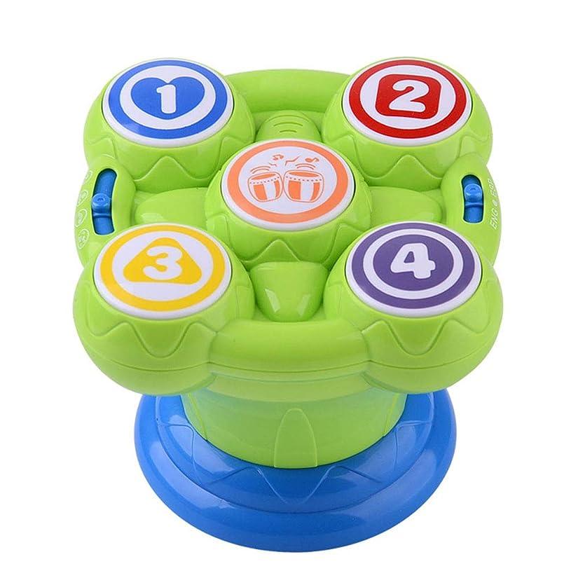 ストライプ子孫いらいらするACHICOO ミニドラム ミニマジック ハンドドラム形状 教育 音楽 おもちゃ 鼓動玩具 0-1歳 子供用