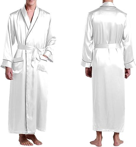 VêteHommests de Nuit Kimono Homme Pure 100 Silk 22 VêteHommests de Luxe pour Hommes Naturels Naturels