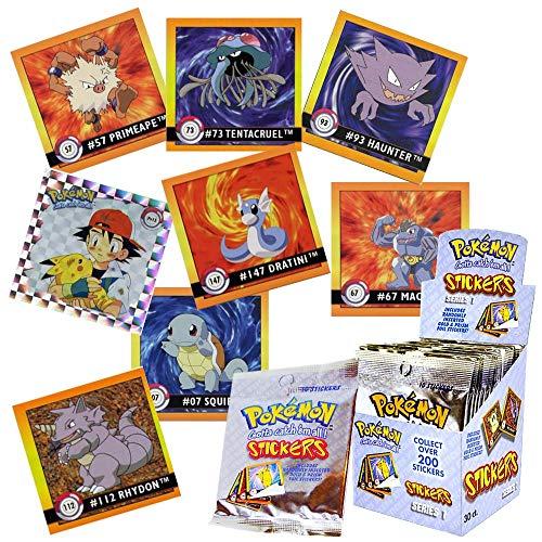 Pokémon Sticker Artbox 1999 Serie 1 Display 30