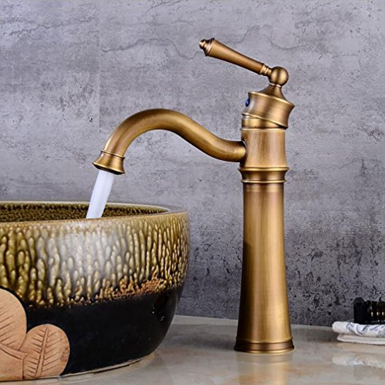 Retro Schwenker Wasserhhne, hei und kalt über Gegenbecken Wasserhahn, Waschbecken Wasserhahn, Hotel Waschtischmischer, hohe Qualitt