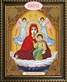 Lovmo Figura Religiosa DIY Pintura de Diamante 5D Hecha por Kit de Personajes Adultos, Pintura de Bricolaje para Adultos Bordado de Diamantes de imitación de Cristal (Cuadrado(Cuadrado 30 * 40 cm)