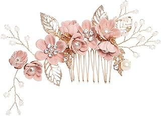 Bridal Hair Comb Simulated Pearls Hair Pins Comb Rhinestone Crystal Hair Clips Flower Leaves Wedding Hair Accessories Headpiece