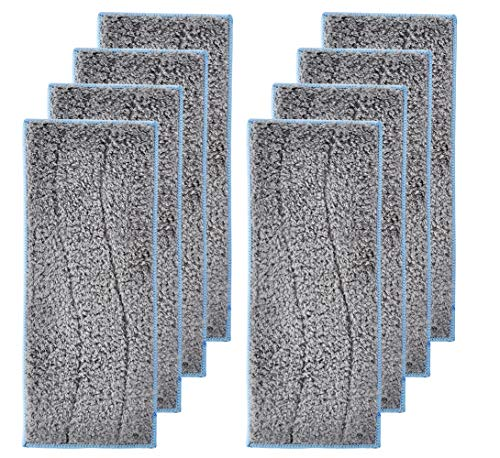 LesinaVac 8 Pack Replacement Washable and Reusable Wet Mopping Pads Compatible with iRobot Braava Jet M6 (6110) (6112) Robot Mop