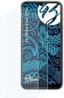 Bruni Skärmskydd är kompatibel med Wiko View 3 Pro Film, kristallklart Skyddsfilm (2X)