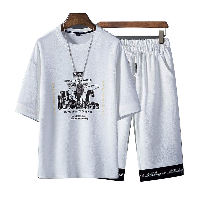 [Magu?Liaison(マグリエゾン)] スウェット セットアップ ジャージ カジュアル スポーツ 半袖 オシャレ メンズ
