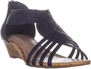 CC35 Ginifur2 Wedge Sandals, Navy
