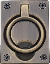 Baldwin 0395050 Flush Ring Pull, Antique Brass