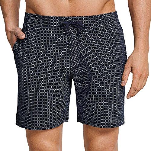 Schiesser Herren Mix & Relax Bermuda Schlafanzughose, Blau (Dunkelblau-Gem. 835), Medium (Herstellergröße:050)