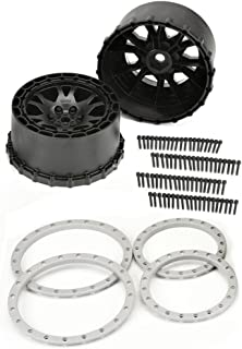 Proline 276303 Impulse Pro-Loc Black Wheels with Stone Gray Rings for X-Maxx, Front Or Rear