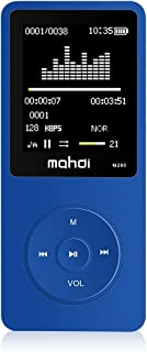 MYMAHDI 8GB 70 Hours Playback MP3 Lossless Sound Music Player Support TF Card,Voice Recorder E-Book Reader Blue