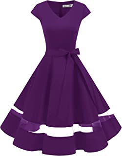 Gardenwed Donna 50s 60s Linea Rockabilly Abito Vestito da Sera Vintage Swing Party Vestito