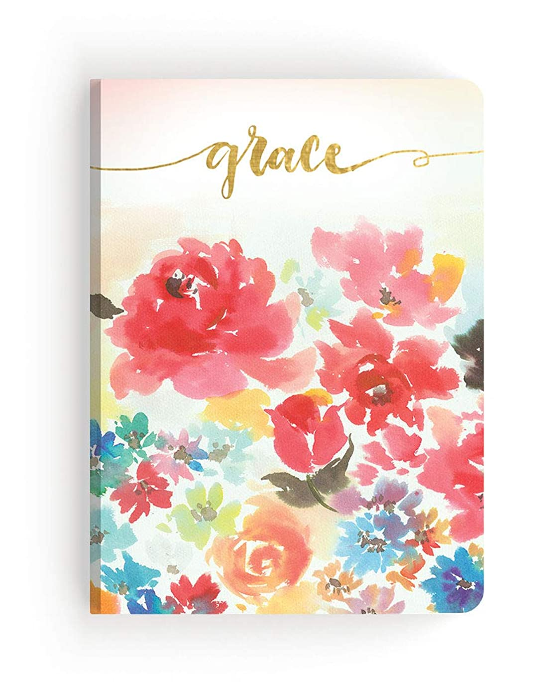 Paper House Productions JL-3007E Watercolor Floral Grace Softcover Journal Dot Grid Notebook, Diary