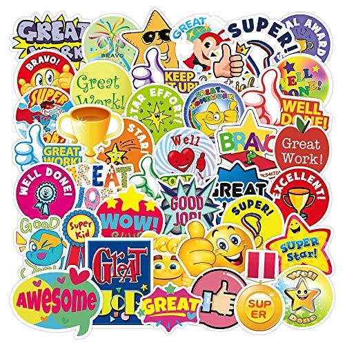 XIAMU Pegatinas de recompensa de Dibujos Animados para niños, portátil, Equipaje, monopatín, Pegatina para teléfono, álbum de Recortes DIY, estímulo para niños, 50 Uds.