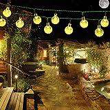 Samoleus Catene Luminose Solare 6M 30 LEDs, Stringa di Luci da Esterno Illuminazione Decor...