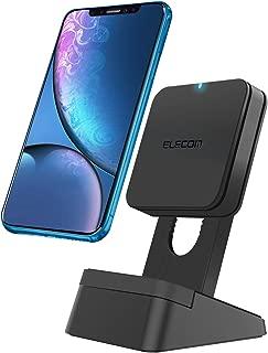 エレコム Qi 充電器 ワイヤレス 充電スタンド 置くだけ充電 5Wモデル [iPhone XR / iPhone XS / iPhone XS MAX / iPhone8 / iPhone8 plus / Galaxy / Xperia / 他Qi対応機種] ブラック EC-QS02BK