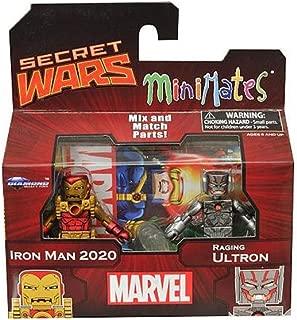 DIAMOND SELECT TOYS Marvel Minimates Series 64 Secret Wars-Iron Man 2020 & Raging Ultron