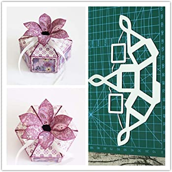 Kuizhiren1 plantilla de troquelado, caja de regalo de Navidad, bricolaje, troquel de corte de metal, álbum de recortes, tarjetas, plantilla: Amazon.es: Hogar