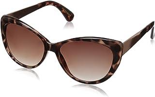 نظارات شمسية نسائية من Foster Grant بتصميم Piper Cat Eye ، لون رمادي السلحفاة/دخاني، 55 مم