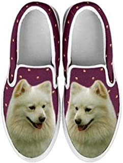 Women's Slip Ons - Amazing Dogs Print Slip Ons Shoes for Women (Choose Your Breed)