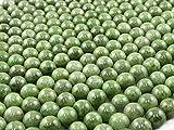 Green Forest Gems, DIY, Diópsido, Genuino, Natural, 8mm, Abalorio, Cuenta, Mostacilla o Chaquira De Piedra Semipreciosa, Bola, Cerca de los 40cm un Tira. (Diopside, Genuino, Natural, Plain Round Bead)