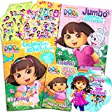 Dora the Explorer Coloring Book Super Set -- 3 Dora Coloring Books with Bonus Sticker Bundle (Dora and Friends Party Supplies)