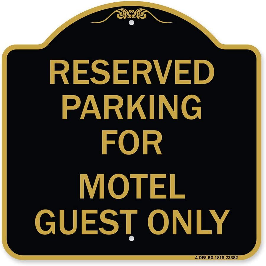 SignMission Designer Series Sign shopping - Reserved Gu for Motel quality assurance Parking
