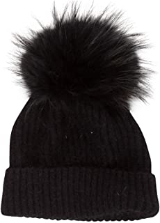 Linda Richards Luxury Genuine Fur Pom Pom Hat