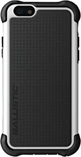 Ballistic Tough Jacket Case for Apple iPhone 6 and iPhone 6s - Retail Packaging - Black/White