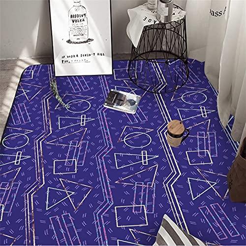 Alfombras Nórdicas para Sala De Estar, Tapetes para La Cabecera del Dormitorio, Alfombras Simples para Habitaciones del Hogar, Tapetes para El Piso del Hogar (50x80cm)