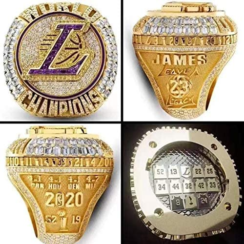 KM 2020 NBA Lakers Championship Ring Lebron Champions Ring for Collection Fans Gift 11 product image