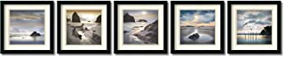 Framed Art Print, 'Vanscoy Coastal Photography- set of 5' by William Vanscoy: Outer Size 18 x 18