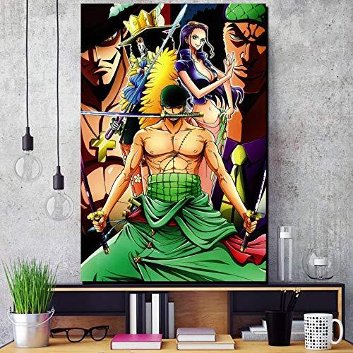 QAZEDC Wanddesign modularer Druck Animation Serie TV-Serie Ölgemälde Poster Wohnzimmer Dekoration Rahmen