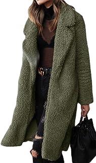 Jofemuho Mens Pure Color Faux Fur Hooded Faux Fur Lined Warm Winter Parka Coat Jacket