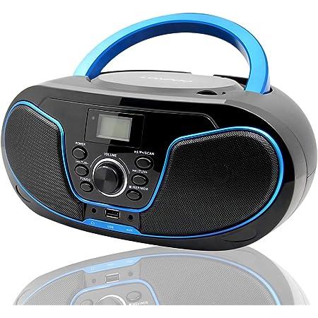 Lonpoo Tragbarer Cd Player Boombox Mit Bluetooth Elektronik