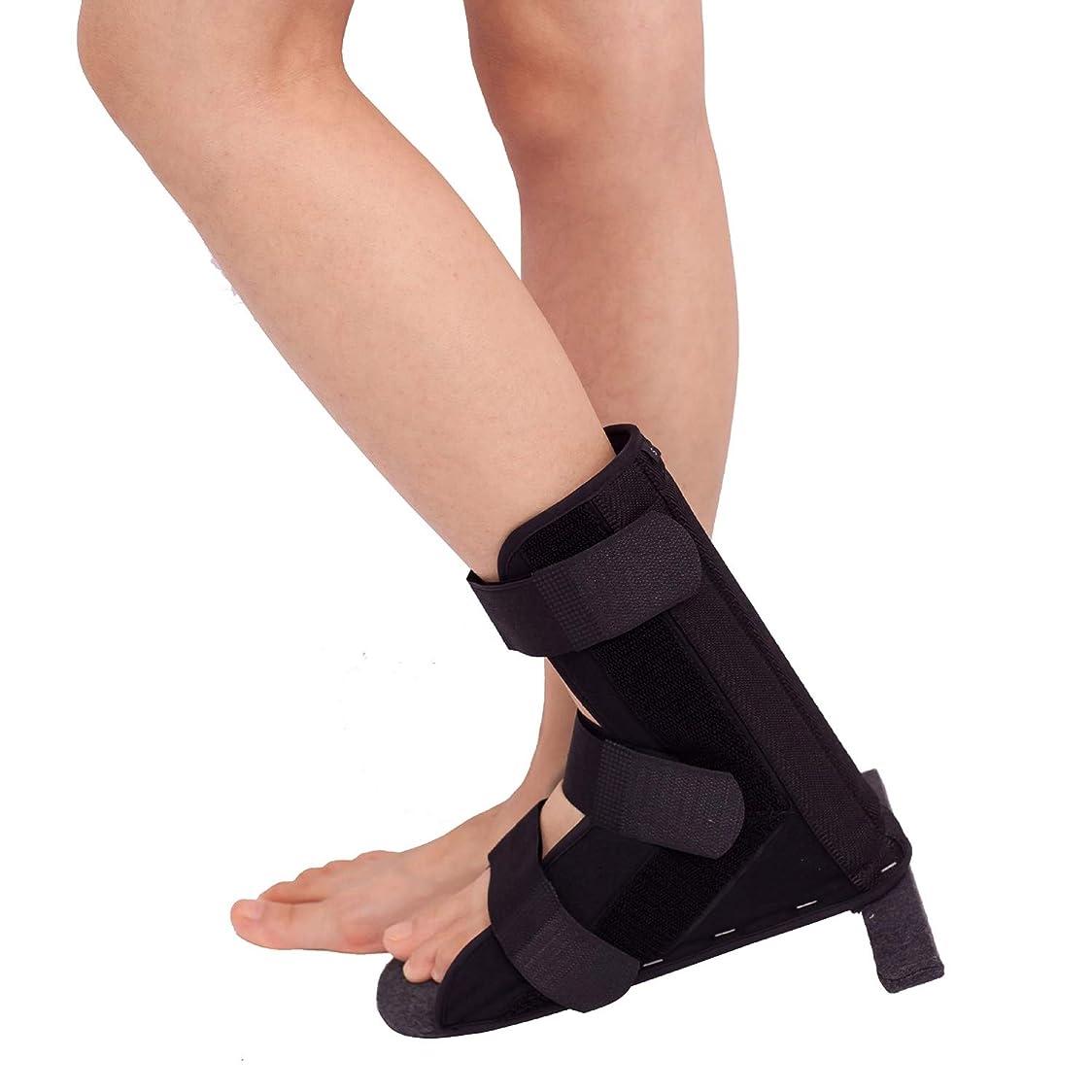 真剣に容赦ないホステル足首サポート ア、T字型靴、整形外科用靴、足首骨折、捻挫固定ブラケット (Size : L)