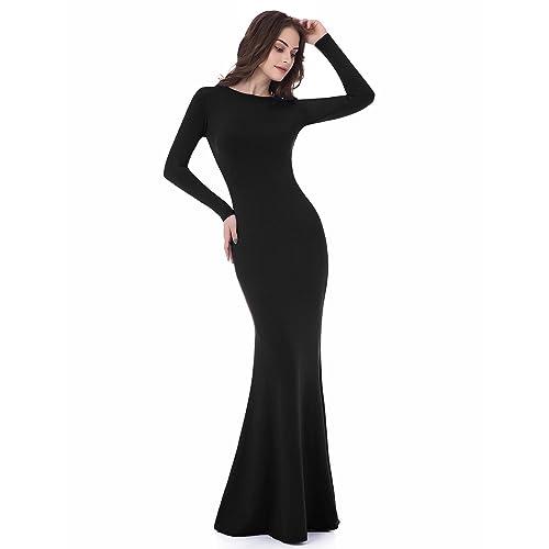 5f846d0e1c Sarahbridal Women s Long Sleeve Prom Dresses Mermaid Backless Sheath  Evening Gowns LF015