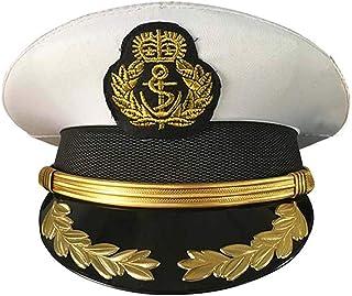 CHECKIN Custom Military Costume Admiral Hats Navy Officer Cap Yacht Captain`s Hat Sailor Cap
