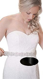 Bridal Beaded Sash Wedding Belt Sash Rhinestone Sash Beaded Sash Ivory Sastin Sash
