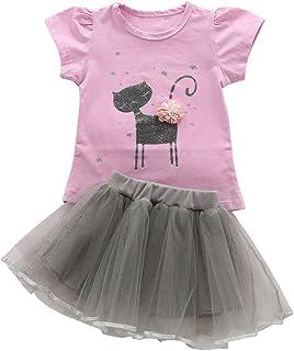 サクララ(Sakulala) 子供服 半袖 Tシャツ チュールスカート 薄手 上下セット キッズ スカート パジャマ ガール ギフト ねこ 春秋 女の子 ルームウェア