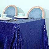 Zdada Royal Blue Sequin Tablecloth - 55'x108' Wedding Party Candy Buffet Rectangle Sequin Tablecloth Sparkly Table Cover