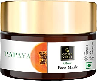 Good Vibes Papaya Glow Face Mask, 100 g Deep Pore Cleansing Moisturizing Face Mask For All Skin Types, Helps Reduce Wrinkl...
