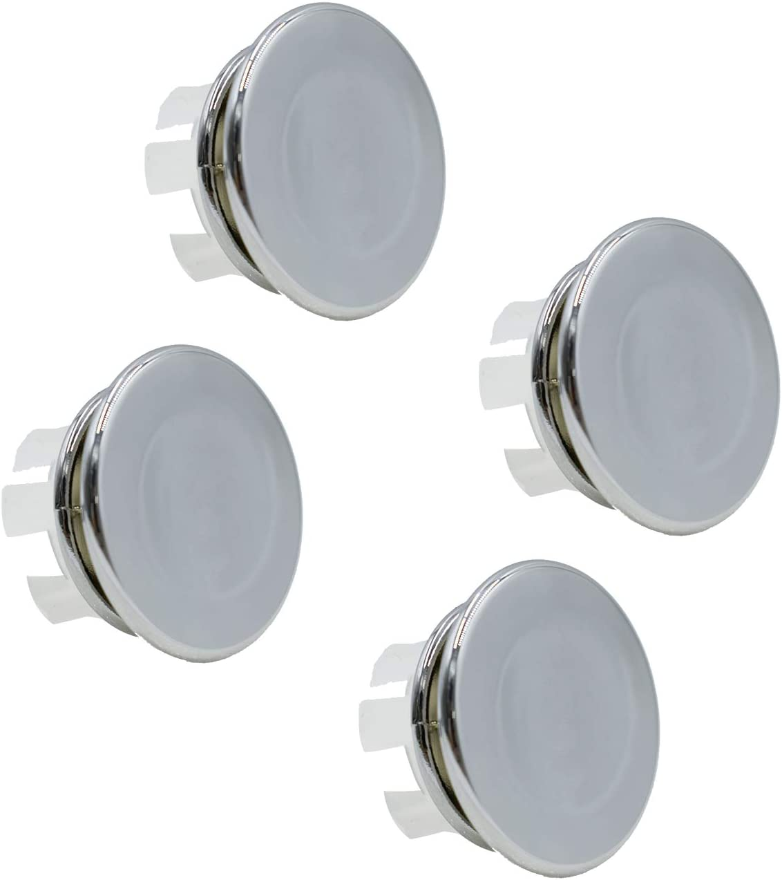 4 Pack Bathroom Basin Sink Max 77% OFF Round Chrome Tidy Overflow Trim 2021 autumn and winter new