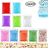 Swallowzy 10Pack DIY Slime Making Kit Including 5Pack Fishbowl Beads and 5Pack Foam Balls