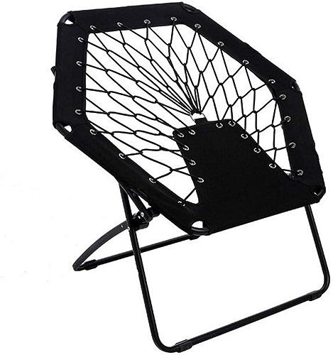 Kamiwwso Chaise élastique de Chaise de Plage Pliante en Plein air Chaise de Plage Portable Chaise Pliante en Plein air pour Enfants créatifs (Couleur   noir)