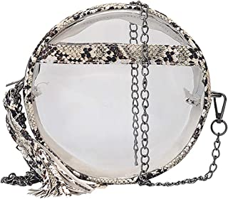 Clear Bag Stadium Approved Round, Cute Messenger Bags For Women Travel Makeup Purse Bag Small Crossbody Bags